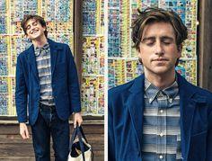 A stellar indigo blazer and a great striped shirt, both via The Hill-Side's A/W 15 Lookbook. #menswear