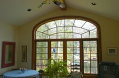 Sunroom arch window