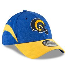 74162f7cdd6 New Era Los Angeles Rams Royal Gold 2018 NFL Sideline Home Historic  Official 39THIRTY Flex Hat