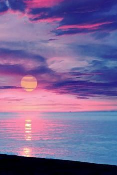 Sunset in dreamy colors