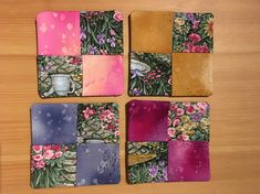 Coasters Wine Coasters Set of 4 Fabric Wine Coasters