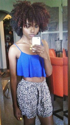 Looks like Crochet Braids using Marley Hair...Love it