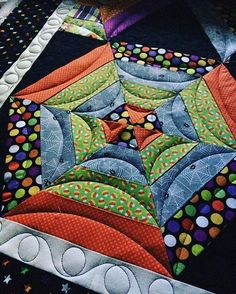 The quilting gives it a spider web feel - the finishing is so very important