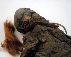 A 2,000-year-old young female bog body, dubbed the Yde Girl because she was found next to the village of Yde in the Netherlands.