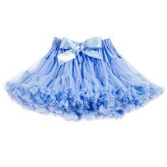 ANGEL'S FACE Bluebell Blue Chiffon Frilled Tutu Skirt
