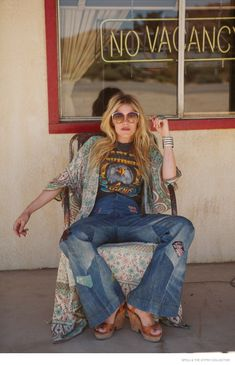 """Australian label Spell and the Gypsy Collective have launched its Holiday 2014 lookbook called """"Summer of Angels"""". The images star model Ashley Smith in 1970s inspired looks as she poses at a motel and diner while sporting easy breezy separates, floral prints, denim and anglaise cotton tops in the outdoors. """"It's for the girl who …"""