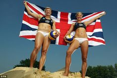 Best of British: Team GB will be hoping for glory on the sand at the London Games