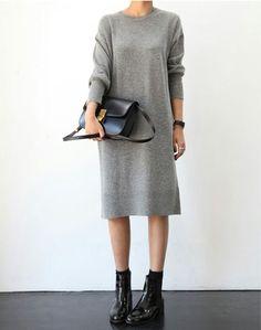 сумка, платье, мода, девушка, серый, комплект одежды, обувь