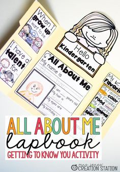 All About Me Activity - Mrs. Jones Creation Station - All About Me Lapbook Activity Best Picture For diy surgical mask free pattern For Your T - All About Me Project, All About Me Crafts, All About Me Book, All About Me Preschool, All About Me Activities For Preschoolers, Crafts For Kids, About Me Blog, Diy Crafts, First Day Of School Activities