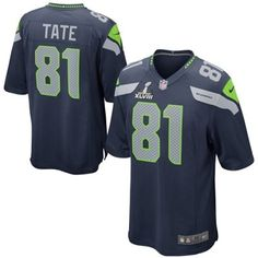 Nike Golden Tate Seattle Seahawks Youth Super Bowl XLVIII Game Jersey -  College Navy 4049e576e