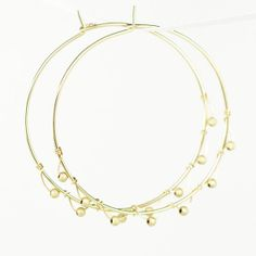 Gold Hoop Earrings, Wire Wrapped, Women's Fashion, Women Accessories, Handmade Jewelry, Boho Chic Jewelry, Kristin Noel Designs on etsy