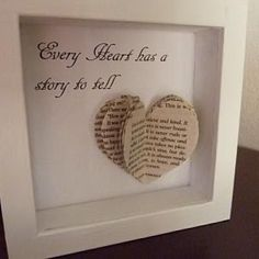 Book Heart Art - cute wedding/anniversary gift