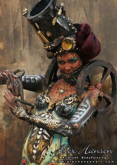 Mindblowing body painting by Alex Hansen at the Face & Body Art International Convention