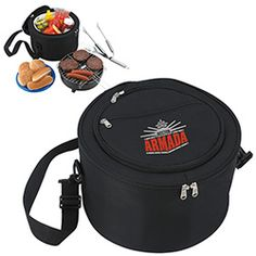 Get ready for a great summer season with this KOOZIE® Portable BBQ with Kooler Bag that allows easy storage and transportation. main compartment with PEVA liner. Main compartment containing. Tailgating, Tailgate Parties, Portable Bbq, Lunch Cooler, 30 Gifts, Travel Accessories, Outdoor Gear, Company Logo, Coolers