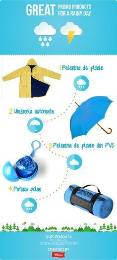 Va recomand cateva idei de obiecte pe care le veti putea folosi si in zilele ploioase ale verii sau la inceputul toamnei.