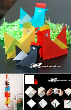 Sempre criança:         http://krokotak.com/2014/03/origami-hen/