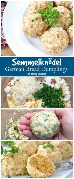 Semmelknödel (German Bread Dumplings) A specialty of southern Germany drenched in gravy these famous SemmelKnödel (German Bread Dumplings) are pure heaven! The post Semmelknödel (German Bread Dumplings) appeared first on Deneme. Pasta Recipes, Dinner Recipes, Cooking Recipes, Soup Recipes, Cake Recipes, Chicken Recipes, Healthy Recipes, Vegetarian Recipes, Healthy Soup