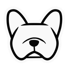 French bulldog (Frenchie) car vinyl decal stickers - you CHOOSE COLOR - Smooshface United: breed bias love