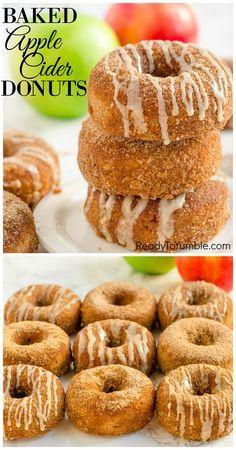 Baked Apple Dessert, Apple Dessert Recipes, Fall Desserts, Apple Recipes, Just Desserts, Brunch Recipes, Fall Recipes, Baked Donut Recipes, Baked Doughnuts