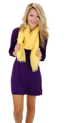 Basic Boatneck Tunic, Purple :: GAMEDAY :: The Blue Door Boutique