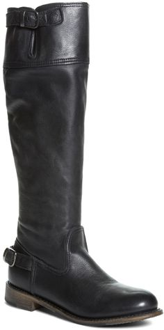 Brooks Brothers Vintage Calfskin Flat Tall Boots on shopstyle.com