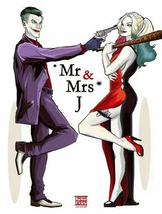 The Joker and Harley Quinn Tattoos Harley Quinn Tattoo, Harley Tattoos, Harley Quinn Drawing, Joker Tattoos, Harley And Joker Love, Joker Und Harley Quinn, Marvel Dc, Princesse Disney Swag, Joker Frases