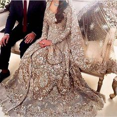 30 Stunning Pakistani Bridal Walima Dresses for Your Inspiration 30 Stunning Pakistani Bridal Walima Dresses for Your InspirationWalima is an extremely significant day of the wedding and requests consummat Asian Bridal Dresses, Asian Wedding Dress, Pakistani Wedding Outfits, Pakistani Wedding Dresses, Bridal Outfits, Indian Dresses, Indian Outfits, Walima Dress, Desi Bride