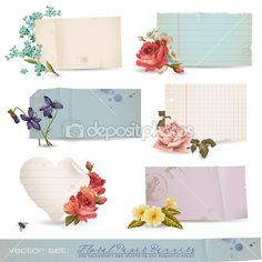Floral paper banners — Stock Illustration #9476001