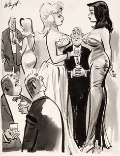 BILL WENZEL - Frasby's perspective is excellent, but his outlook is discouraging! - Jan 1964 Jest Magazine - item by comics. Bill Ward, Pin Up, Original Art, Auction, Comics, Illustration, Anime, Perspective, Dan