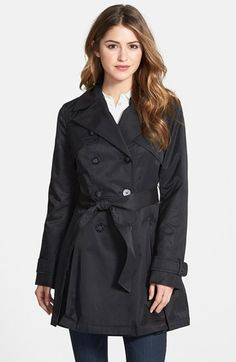 Laundry by Shelli Segal Double Breasted Trench Coat (Regular & Petite) available at #Nordstrom