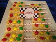 Stoplight Rice Krispie treats! See more party ideas at CatchMyParty.com!