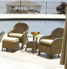 $2741 Telescope Casual Key Biscayne Wicker Bistro Set - avail at DB