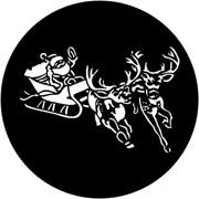 Santa and Sleigh - Rosco Gobo #77720