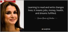 TOP 25 QUOTES BY QUEEN RANIA OF JORDAN (of 69) | A-Z Quotes