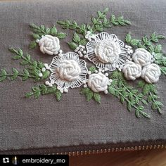@embroidery_mo #needlework #handembroidery #ricamo #broderie #bordado #embroidery
