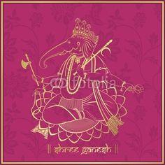 Ganesha Hindu Wedding Card Royal Rajasthan India