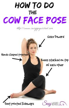 cow face pose