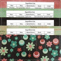 Pocket Full of Posies- meal planning idea!  I like it.