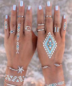 Flash Tatto And Silver Jewelry Beach Style #Fashionistas