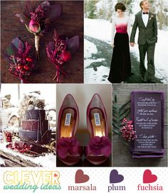 Marsala | 2015 Pantone Color of the Year - Winter Inspiration - Marsala, Plum and Fuschia