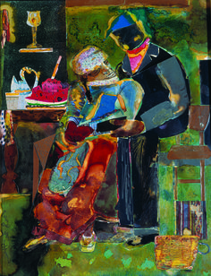 "Romare Bearden's ""Mecklenburg County, Lamp at Midnight"" (GMOA 1998.21) was on view as part of the exhibition ""Romare Bearden: Southrn Recollections"" at the Mint Museum Uptown, Charlotte, North Carolina, Sept. 2, 2011 – Jan. 7, 2012; the Tampa Museum of Art, Florida, Jan. 28 – May 6, 2012; and the Newark Museum, New Jersey, May 23 – Aug. 19, 2012."