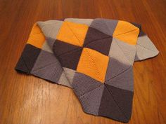 Choose a daddy bear's favorite colors and surprise him with his very own shower gift--What Daddies Like and a snuggly blanket. Mitered Square, Daddy Bear, Square Blanket, 2 Colours, Knitting Projects, Plaid Scarf, Favorite Color, My Design, Shower