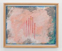 PAUL THEK Untitled (Five Vertical Red Lines) 1981 Acrylic and gesso on newspaper 56.8 x 73.3 cm