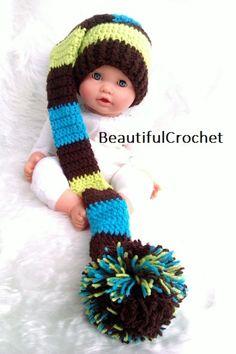 Mützen - Zipfelmütze baby hat elf Babyfotographie Baby Foto - ein Designerstück von BeautifulCrochet bei DaWanda  website:  http://beautifulcrochet.wordpress.com