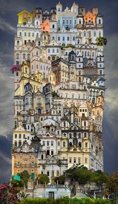 Paris based photographer Jean Francois Rauzier began his career as a fashion photographer. Realizing he could use digital photography to compose a grid of Unusual Buildings, Amazing Buildings, Photomontage, Digital Photography, Landscape Photography, Inspiring Photography, Arte Popular, Photo Projects, Turin