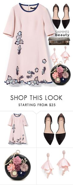 """""""153"""" by erohina-d ❤ liked on Polyvore featuring beauty, WithChic, Oscar de la Renta Pink Label and Urban Decay"""