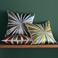 Graphic silk pillow cases