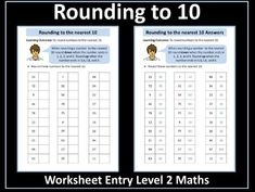 This resource contains a worksheet on rounding to the nearest It has been designed for students working towards the AQA Entry Level Certificate in Math. Teaching Math, Maths, Certificate Of Achievement, Aqa, Place Values, Rounding, Entry Level, Student Work, Teaching Resources