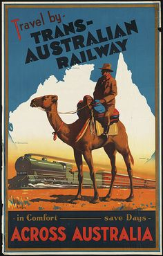Title: Travel by Trans-Australian Railway across Australia    Creator/Contributor: Northfield, James, 1887-1973 (artist)    Created/Published: Northfield Studios Pty. Ltd. & J. E. Hackett    Date issued: 1930 (approximate)