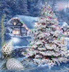 Snowy church scene | Thomas Kinkade - Christmas Scenes | Pinterest